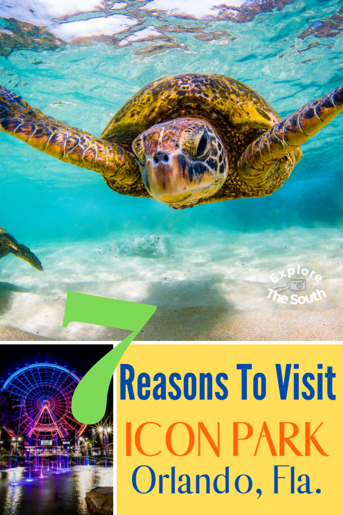 7 Reasons To Visit ICON Park Orlando Florida. Family vacation attractions for all ages. Thrill rides, arcade and restaurants. #visitflorida #familyvacation #explorethesouth