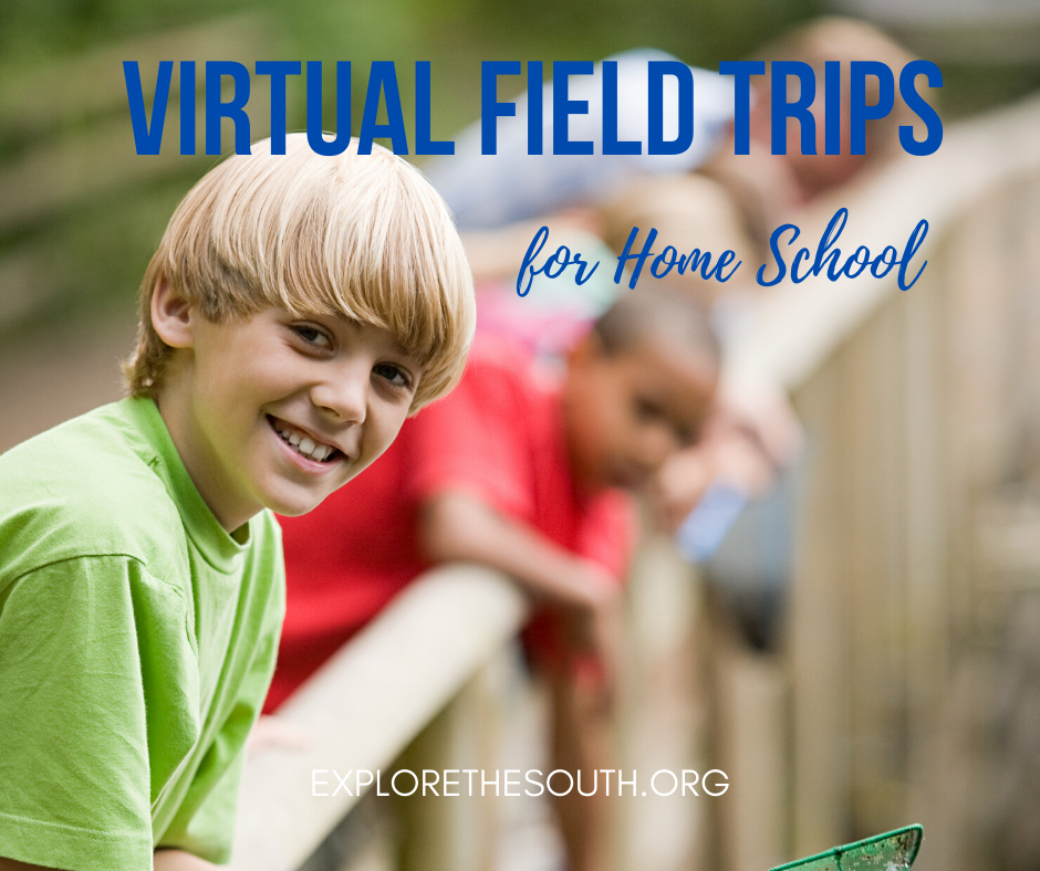A long list of Virtual Field Trips for home school. Links to various sites offering virtual visits for educational purposes. Children of all ages will enjoy these virtual videos. #homeschool #virtualtour