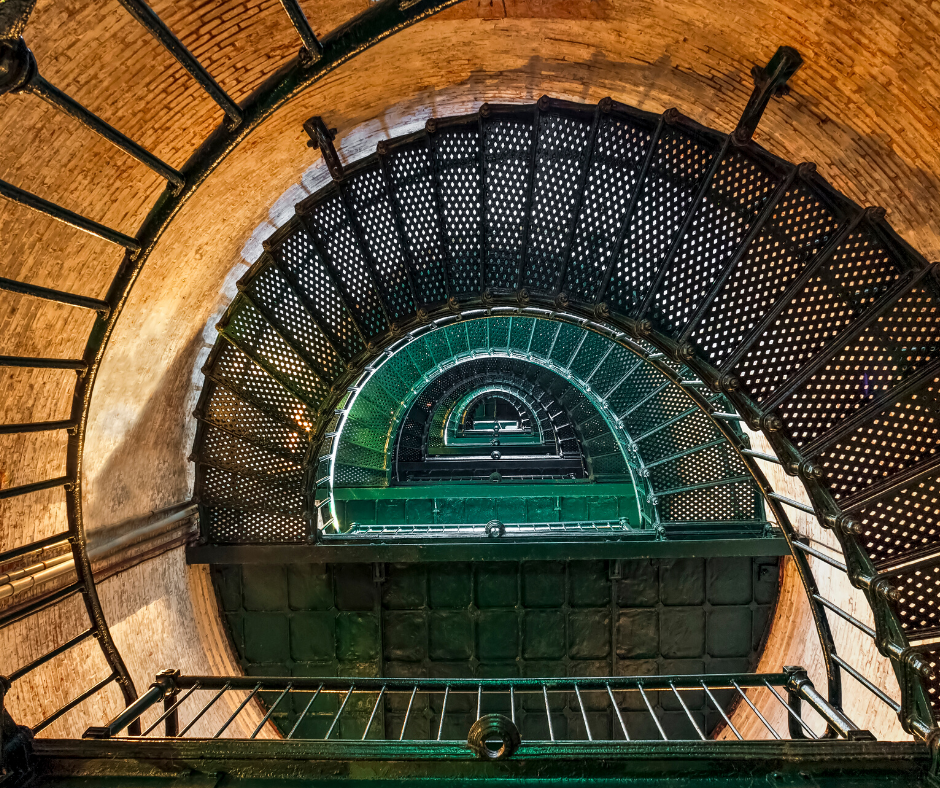 Inside Currituck Beach Lighthouse
