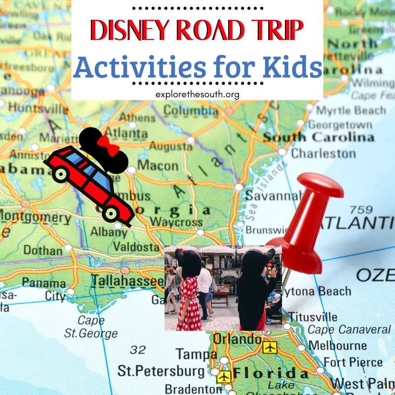Florida map showcasing Disney World