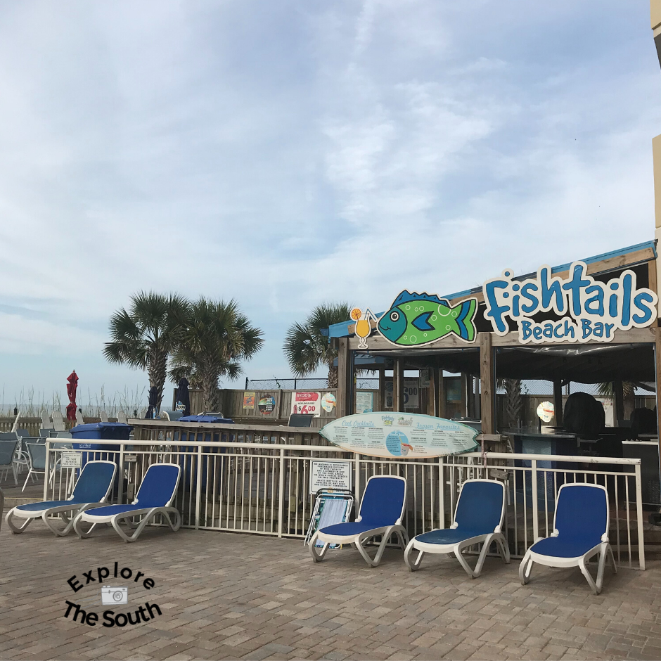 Fishtails Bar and Grill at Bay Watch Resort Myrtle Beach S.C.