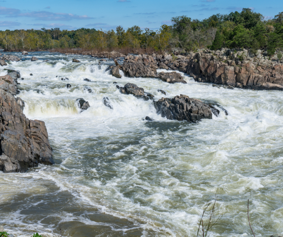 white water rapids on a river