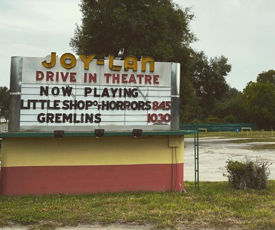 Drive In Movie Theatre entrance sign