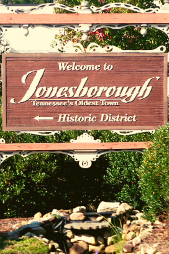 a welcome sign in Jonesborough Tennessee