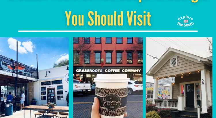 pictures of the front of coffee shop buildings in Georgia
